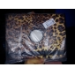estampa de leopardo 360 graus de rotação estojo de couro pu e suporte para ipad 2/3/4 (marrom)