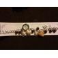 Femme Plastique alliage analogique Bracelet Montre à quartz (couleurs assorties)