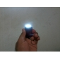 3-LED White Light Solar Powered Self-Recharge Flashlight Keychain -Black