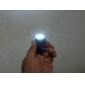 Llavero con Lientera de 3LED de Luz Blanca y Auto Recargable con Energía Solar - Negro