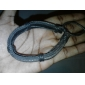 Z&X® Men's Braided Cow Leather Bracelet