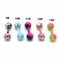 Eruner®1PCS Candy Color Titanium Steel Ball Dumbbell Pattern Earrings(Assorted Colo