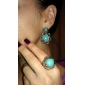 Ring Jewelry Alloy / Gem / Turquoise Statement Rings5 Silver / Green
