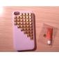 Golden Square Rebites Coberto Down Stairs Padrão Hard Case com cola para iPhone 4/4S (cores sortidas)