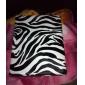 Zebra-Druck 360 Grad PU Leder Tasche & Ständer für iPad 2/3/4 (schwarz)
