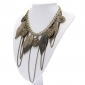 European And American Jewelry Leaves Multilayer Tassel Necklace