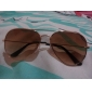 Unisex Brown Lens Gold Frame Pilot Sunglasses