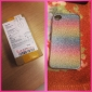 Colorful Shimmering Powder Back Case for iPhone 4/4S