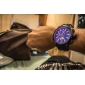 Men's Auto-Mechanical Watch Black Silicone Band Analog Wrist Watch (Assorted Colors)