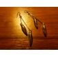 Awl Shape Platinum Earrings