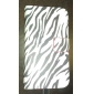 Capa de Couro Zebra-listra Padrão PU com Magnetic Snap e slot para cartão de Samsung Galaxy S3 mini-I8190