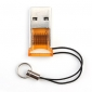 Mini Keychain USB 2.0 TF MicroSD Card Reader (Orange)