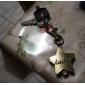 Lucky Star of Unisex Alloy Analog Quartz Keychain Watch (Bronze)