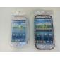 colorida flor de fita padrão em TPU para Samsung Galaxy i9300 s3 (multi-cores)