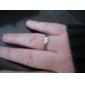 남자의 Crysal 고품질은 반지를 도금했다
