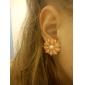 Z&X®  Lovely Pink Pearl Stud Earrings Little Daisy Flowers