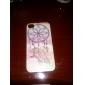 Пух и перья цветной рисунок Pattern черная рамка PC Жесткий чехол для iPhone 4/4S