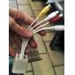VGA Male to S-Video Female + 3 RCA Female Cable(Random Color)