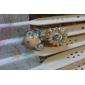 Korean version of the asymmetric enamel daisy flower drop earrings female bird earrings earrings  Phnom Penh E399