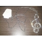 Eruner®Silver Plated Alloy Zircon Musical Note Pattern Necklace