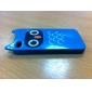 Cartoon Owl Pattern Hard Case for iPhone 4 and 4S (Blue)