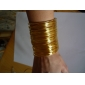 Lureme®Gold Plated Coiling Shaped Alloy Bracelet