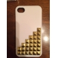 Gold Ladder Style Protective Hard Back Case for iPhone 4/4S (Optional Colors)