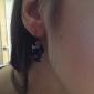 여성 드랍 귀걸이 귀여운 스타일 의상 보석 레진 합금 Animal Shape 고양이 보석류 제품 일상