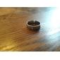 Кольца Для вечеринок Бижутерия Титановая сталь Женский Мужчины Пара Классические кольца 1шт,Стандартный размер Серебряный