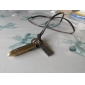 Golden Bullet Many Parts Adjustable Leather Necklace