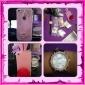 Coque pour iPhone 4/4S, Motif Queue et Oreilles de Lapin Rose