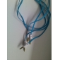 3.5mm Male to Male Audio Connection Cable Flat Type Blue (1.5m)
