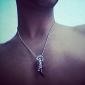 ожерелье eruner®fashionable черный клык стиль металла кулон человека