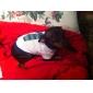 Camiseta de Corbata y Franjas de Algodón para Perritos (XS-M Blanca)