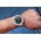 아날로그 - 디지털 듀얼 디스플레이 블랙다이얼 손목시계 WH-904