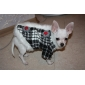Dog Coat Black Dog Clothes Winter Plaid/Check