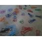 Прекрасные формы косточки Металлические скрепки (10шт Случайный цвет)
