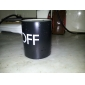 Magic Color Changing ON OFF Pattern 250ml Ceramic Cup Mug