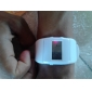 Unisex Digital Multi-Functional Rubber Band Wrist Watch (White)