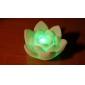 Charmig färgglad lotuformad nattlampa i LED (3xAG13)