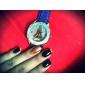Eiffel mulheres do estilo Torre PU analógico relógio de pulso de quartzo (cores sortidas)