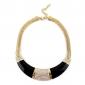 преувеличивать полукруг алмаз инкрустированные золотой цепи ожерелье