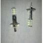 H1 28X3528SMD 60-80LM 6000K Cool White Light LED Bulb for Car (12V,2pcs)