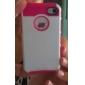 Shells Duplo projeto TPU Inner Shell Hard Case Rosa para iPhone 4/4S (cores sortidas)