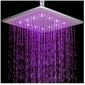 Rociador Luminoso de Ducha Cuadrado de 12 LED de 20 cm / Colores Surtidos
