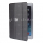 Tri-Fold Solid Color Leather Stand Cover for iPad Air