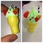 porte-clés en forme de cornet de crème glacée (couleurs aléatoires)