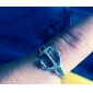 Anéis Jóias Cobre Anéis Grossos8 Dourado / Prateado / Verde / Púrpura