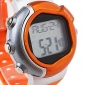 Unisex Calorie Counter Heart Rate Monitor Digital Wrist Watch (Orange)