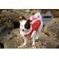 traditionnelle robe de style chinois pour les chiens (XS - XL, rouge)